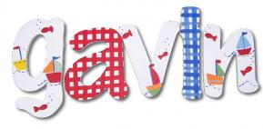 Gavin's Boats Hand Painted Wall Letters