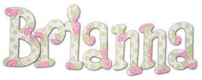 Pink Rose Green Dot Wall Letters