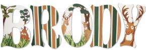 Hunting Theme Wall Letters