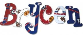 Athlete All Sport Wood Letters for Boys