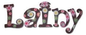 Carnival Bloom Wall Letters