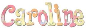 Tropical Punch Stripe Jungle Wall Letters (Caroline)