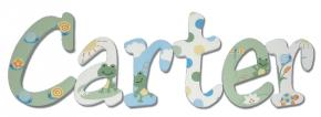 Frog Theme Custom Painted Wall Letters