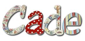 Cade's Vintage Circus Kids' Wall Letters