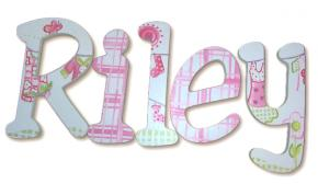 Pink Clothesline Kids' Wall Letters