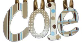 Cole's Blue and Chocolate Kids' Wall Letters