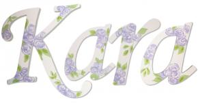Lavender Rose Handpainted Wall Letters