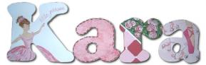 Ballet Theme Hand Painted Wall Letters