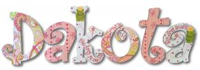 Paisley Frog Princess Hand Painted Wall Letters
