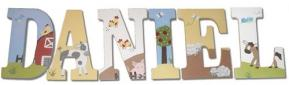 Appletree Farm Handpainted Wood Letters