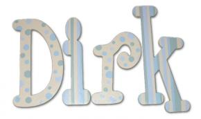 Dirk's Dots Hand Painted Wall Letters