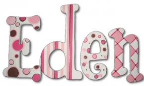 Eden's Hand Painted Wall Letters