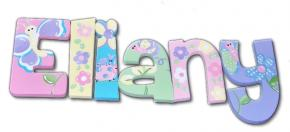 Eliany's Butterfly Garden Hand Painted Wall Letters
