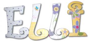 Elli's Sunshine Garden Hand Painted Wall Letters