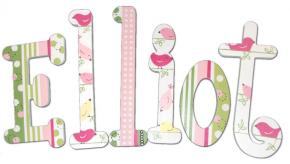 Little Birdy Hand Painted Wall Letters Thumbnail