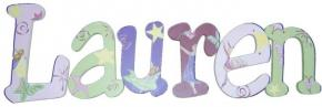 Fairies in Flight Hand Painted Wall Letters