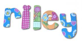 Bold & Bright Flower Garden Custom Painted Wall Letters