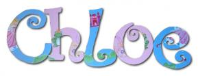 Frog Princess Custom Painted Wall Letters