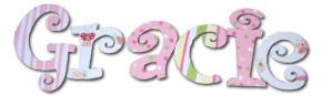 Gracie's Fun & Girly Wall Letters