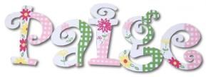 Gingham and Flowers Custom Painted Wall Letters