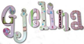 Alphabet Soup Custom Painted Wall Letters
