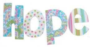 Hope's Paisley Dot Hand Painted Wall Letters