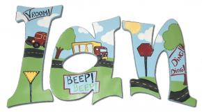 Trucks Go Beep Boys' Wall Letters
