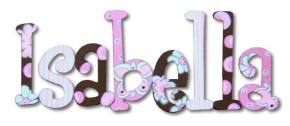 Isabella's Butterflies Hand Painted Wall Letters