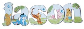 Winnie the Pooh Handpainted Letters, Modern Style