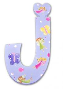 Fairy Princess on Lavender Hand Painted Wall Letters