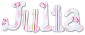 Floral Splash Hand Painted Wall Letters