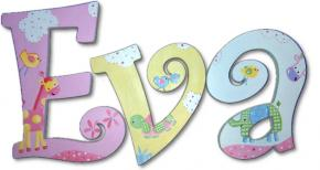 Jungle Love Hand Painted Wall Letters