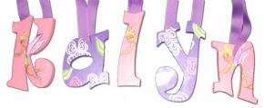 Pink and Purple Tinkerbell Wall Letters