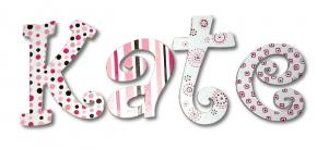 Classic Pink Hand Painted Wall Letters Thumbnail