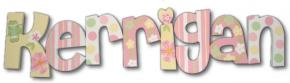 Pastel Flower Chain Hand Painted Wall Letters