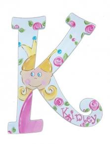 Personalized Princess Wood Letters