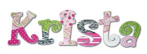 Funky Fresh Hand Painted Wall Letters
