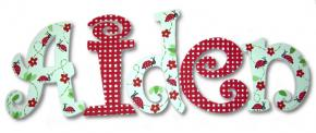 Ladybugs on Parade Hand Painted Wall Letters
