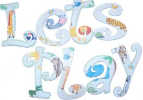 Jungle Play Hand Painted Wall Letters