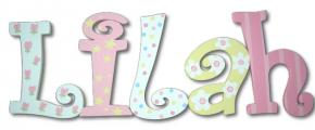Tulip Treasure Hand Painted Wall Letters