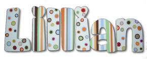 Lillian's Polka Dot Hand Painted Wall Letters