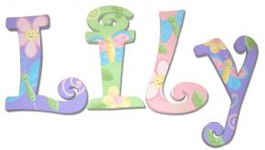 Enchanted Garden Wall Letters