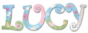 Birds in Springtime Wall Letters for Girls