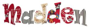 Pirate's Treasure Map Wall Letters for Boys