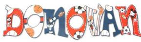 Mickey Mouse Sports Custom Painted Letters