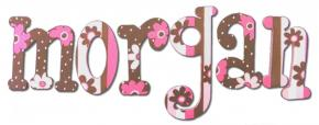 Hot Pink & Brown Custom Painted Letters