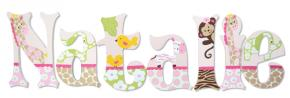 Jungle Jill's Personalized Letters for Girls