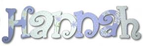 Lavender Flowers Custom Painted Wall Letters