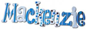Peek-a-blue Polka Dot Wall Letters