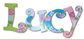 Lucy Goosey Garden Painted Wall Letters